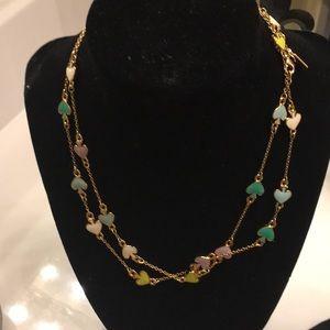 Kate spade multi colored spade necklace